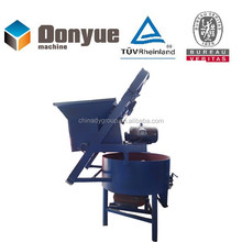 High capacity concrete mixer with skip hoist