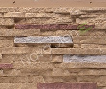 Exterior 3d Decoration Pu Wall Panel Stone Cladding Interior