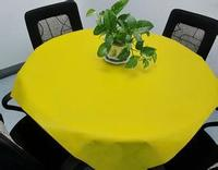 different color square / round disposable non woven tablecloth, plain table cover for wedding ,home ,party from China supplier