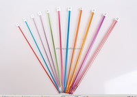 Knitting Needle Type Aluminum Handle Crochet Hook