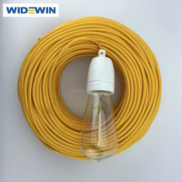 Cloth Covered Wire Pendant Hanging Light Lamp Cord Grip Fabric Electrical Wire and Cable