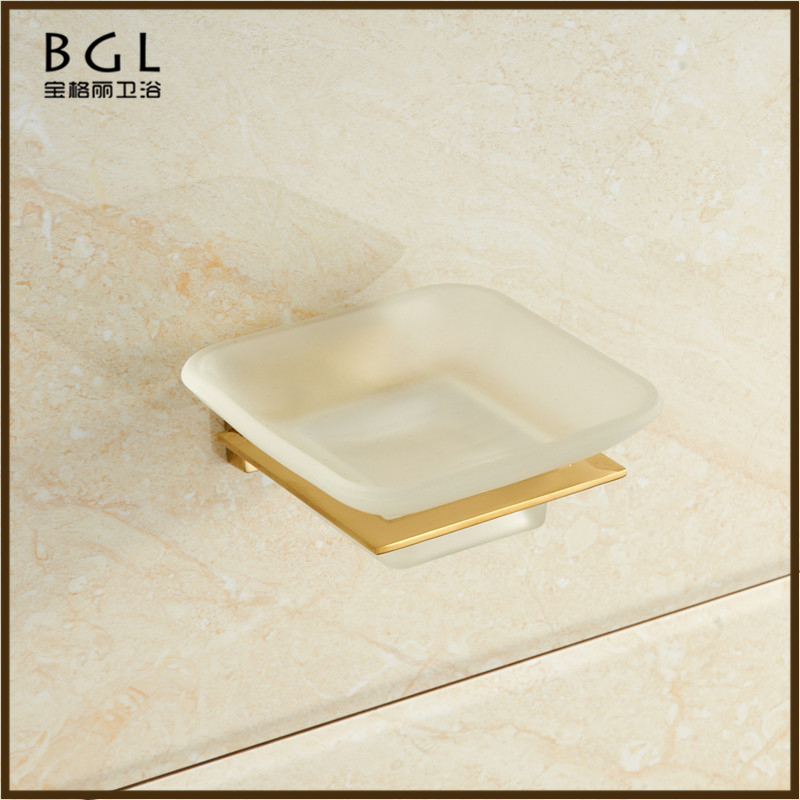 20739 bathroom accessories set hotel soild soap dish wall mounted gold soap basket