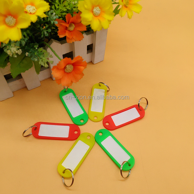Custom Fashion plastic luggage tag with Key buckle for travel/hotel