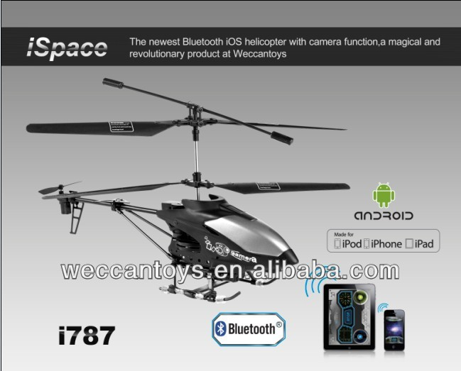 iPhone controlled Helicopter with Camera take video and photo