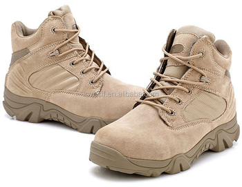 China fashional comfortable breathable cheap stylish durable lace-up army boots working