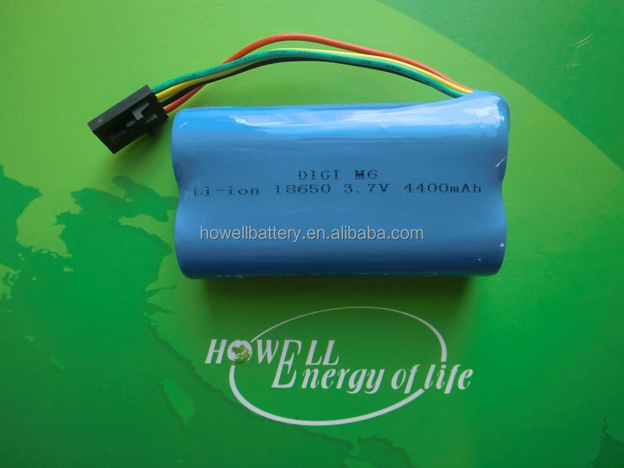 High quality and Wholesale Price Li-ion 18650 7.4V 1200mAh Rechargeable Battery Pack with PCB