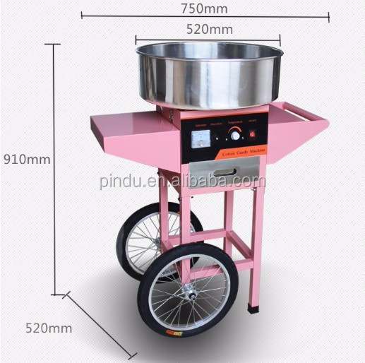 Industrial Japanese cotton candy floss machine with wheel parts