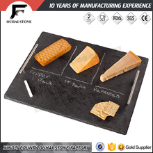 Delicious cookies food slate stone board natural rough edge decorative cheese plate