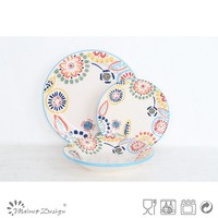 Hot selling 18pcs cramic lovely dinner set with decal color box packing