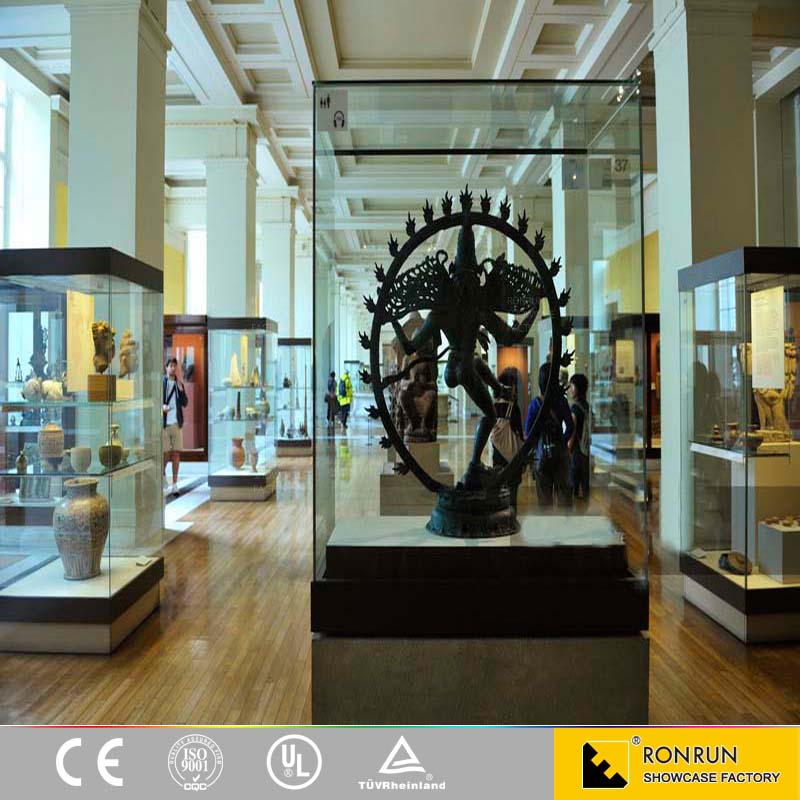 High Quality Museum Grade Glass Display Cases Museum Display Cabinets
