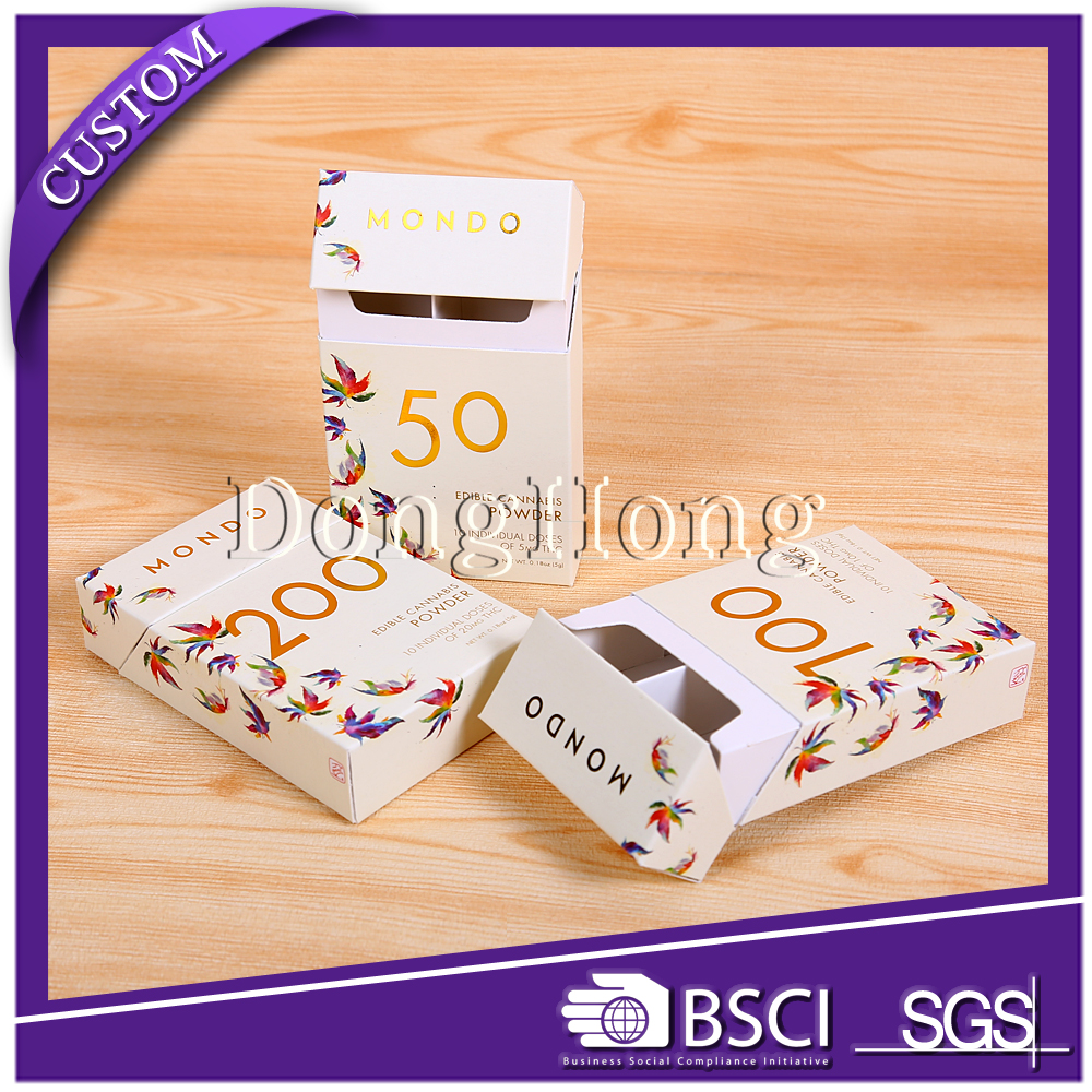Gift cardboard inserted custom made paper cigarette box printing