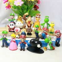 (Good Quality) 18PCS Super Mario Bros Action Figures, OEM Cartoon Figure, Cheap Action Figure Factory
