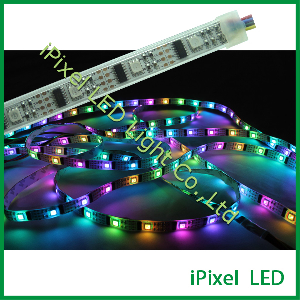 IP20, IP65 5050 rgb flexible led strip light ws2801 - white or black pcb
