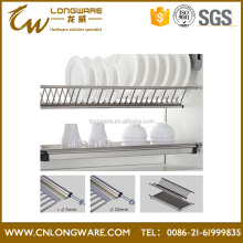 High quality kitchen stainless steel kitchen cabinet plate rack