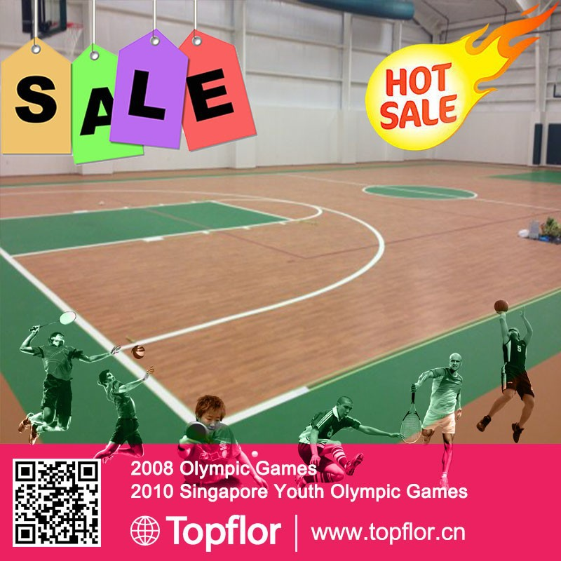 Indoor plastic sports floor roll pvc floor for basketball court