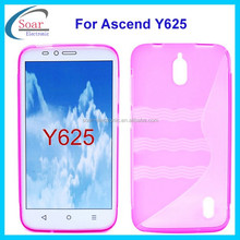 Top sale product S line wave tpu for Huawei Ascend Y625,mobile phone cover case for Huawei Ascend Y625