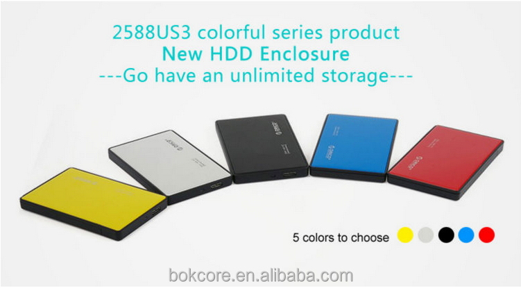 "case of external hard drive, 2.5"" hdd enclosure ,Tool Free Screw-Less 2588US3 USB3.0 2.5-inch"