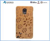 Alibaba express Laser carving plum blossom natural Wooden hard Case for Samsung Galaxy Note 4