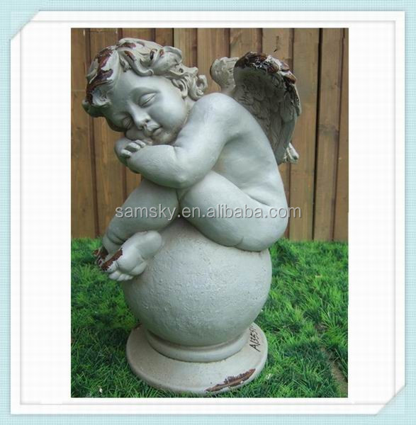boy angel large stone garden statues