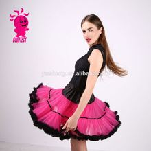 Adult Fluffy Pettiskirt TuTu Skirt For Women Fluffy Party Hot Pink TuTu Skirt Short pettiskirt Skirt