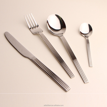 Stainless steel stripe wire shape cutlery for Economy class