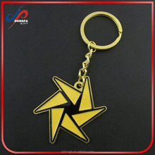 Gold Plated Cute Windmill shaped keychain,gift for kids,keychains souvenir