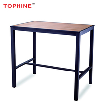 Commercial Contract TOPHINE Furniture Outdoor Aluminum Frame Plastic Wood Top Long Bar Height Table