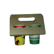 Disposable take away tray coffee paper cup holder with handle