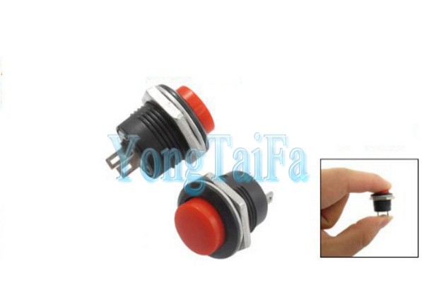 Hot New 5 X Momentary Switch SPST NO Red Round Cap Push Button Switch AC 6A/125V 3A/250V