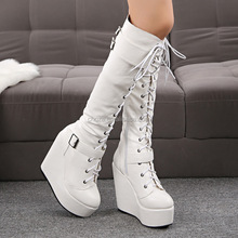 C22019B 2015 New Style Ladies High Heel Shoes High Boots