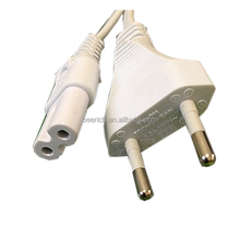 VDE approved 2-pin power cord with C7 connector
