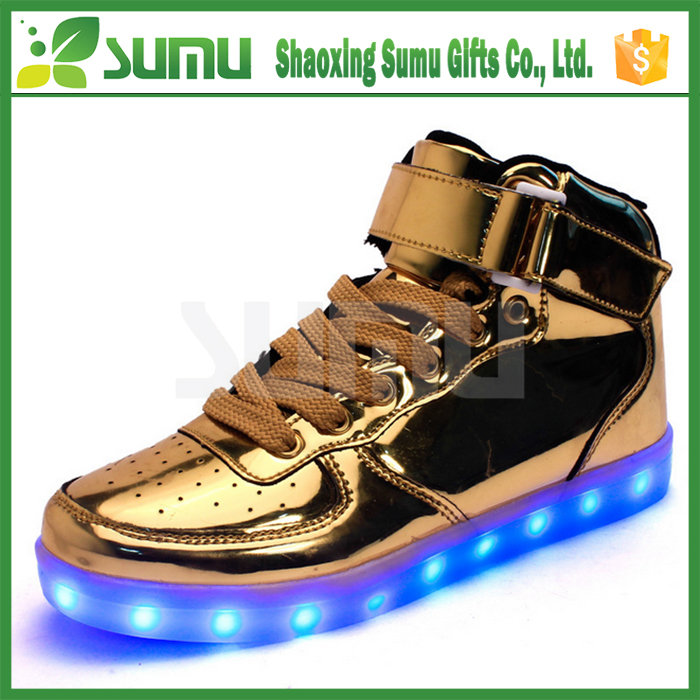 Unisex Rechargeable Light Up Flashing led light up kids shoes With USB Charger