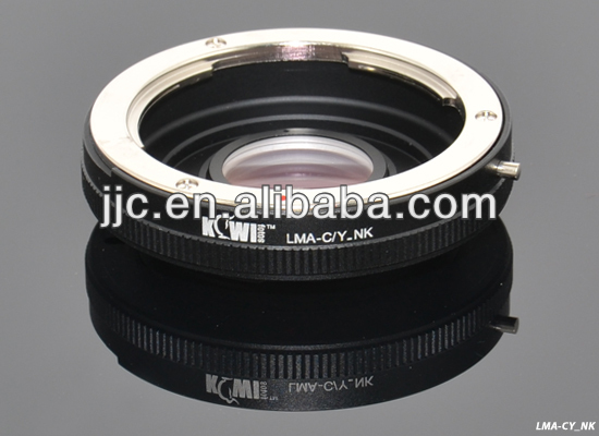 Kiwifotos Lens Mount Adapter for Yashica/Contax Lens For NIKON F Mount Camera