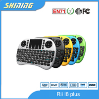 i8 plus bluetooth 2.4g touch pad led backlight remote mini wireless keyboard air mouse for android tv box laptops etc