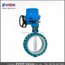 PFA lined electric flange and wafer butterfly valve hand wheel