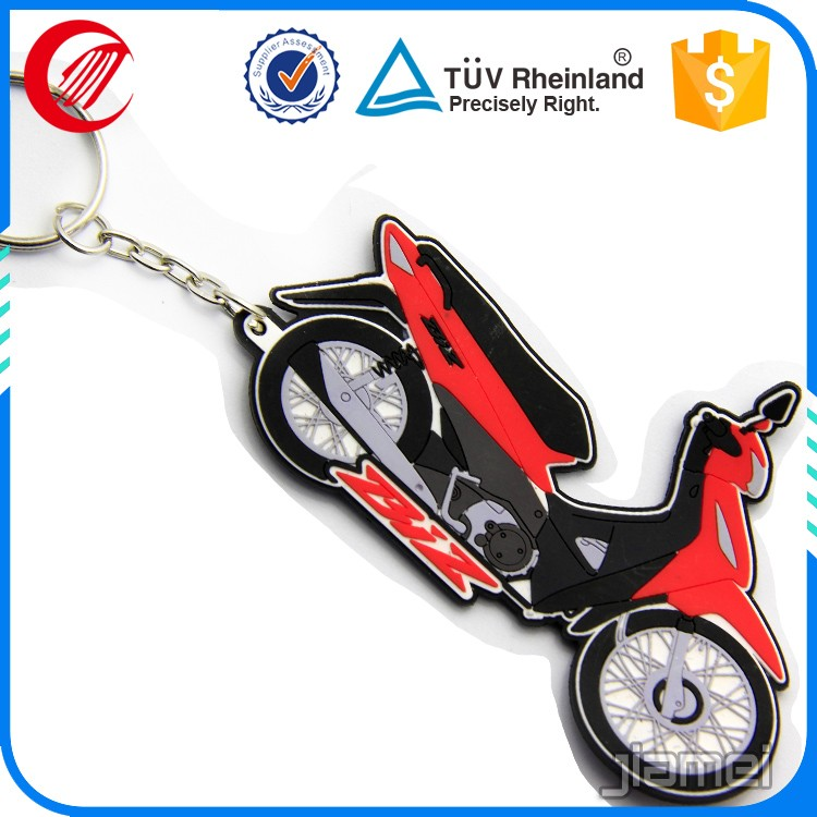 OEM rubber motorcycle design cheap custom silicone keychains