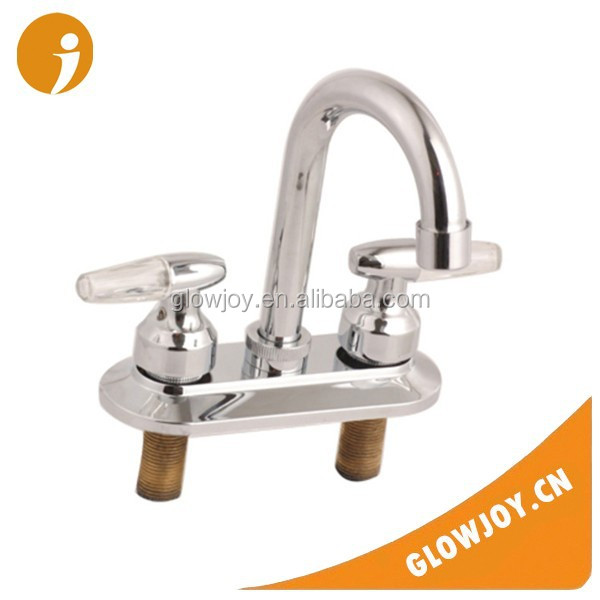 double handle brass kitchen mixer water faucet