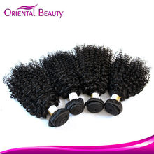 New product in China 2016 romance indian jerry oprah curl remy human hair weave
