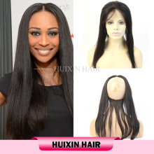 No Tangle No Shedding Virgin Unprocessed Human Hair,Brazilian Hair Lace Closure 360 Lace Frontal
