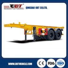 2016 new design 20ft steel material container skeleton trailer