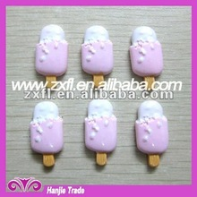 Lovely flat backs resin charms purple 18mm ice lolly cabochon decor for cell phone nail arts
