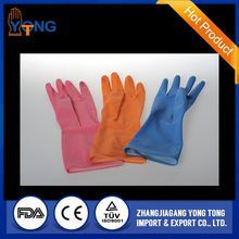 New design xl size green color flocklined beautiful household latex glove with good quality