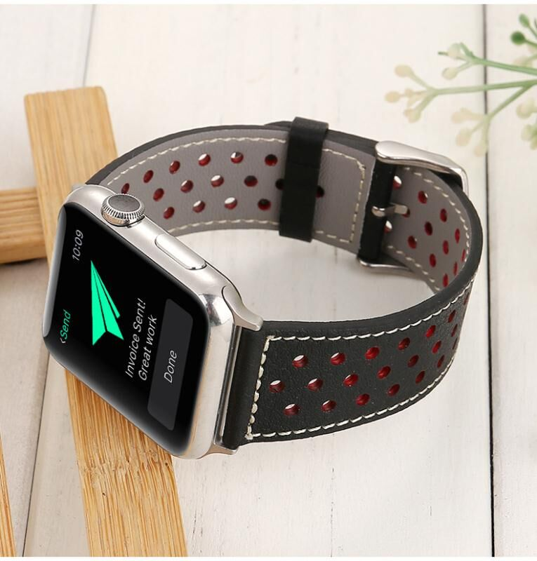 Band belt 38mm 42mm Top Grain Leather Band Replacement Strap for Apple Watch Series 3