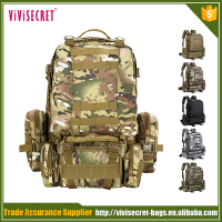 60L large capacity 3P tactical go-bag camping backpack knapsack