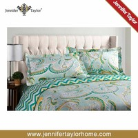 printed cotton bed sheet textile/ hotel bedspread set