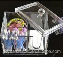 Reasonable Price Acrylic Cotton Swab Box With Customer's Design