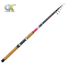 PALADIN 1.8m Cork Handle fiber glass Telescopic fishing rod and lure fishing pole from weihai