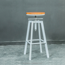 America style height adjustable industrial vintage iron bar stool wholesale for pub