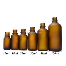 glass bottle in Brown color/frosting glass bottle /esssential oil bottles