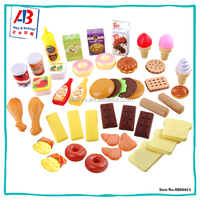 Multi-Color children toys play food and dishes